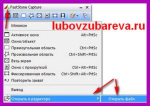 FastStone Capture как сделать скриншот и запись видео с экрана компьютера блог Любови Зубаревой 4