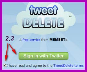 TweetDelete удалить все твиты