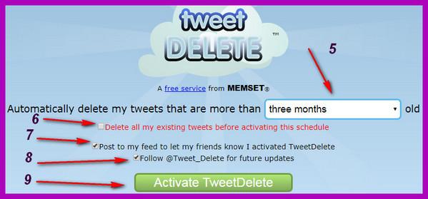 TweetDelete удалить