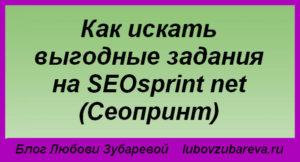Как искать выгодные задания на SEOsprint