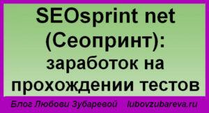 SEOsprint net Сеопринт заработок на заполнении тестов