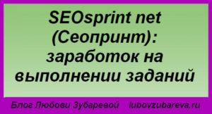 SEOsprint net Сеопринт заработок на выполнении заданий.