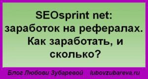 SEOsprint net Сеоспринт заработок на рефералах