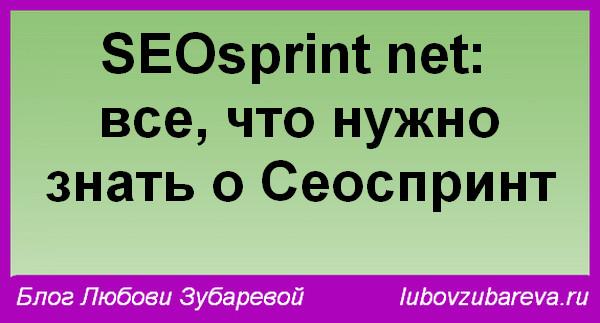 SEOsprint net: все, что нужно знать о Сеоспринт