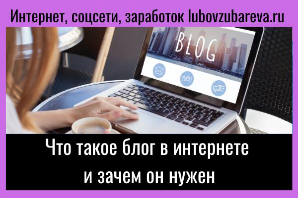 что такое блог в интернете и зачем он нужен