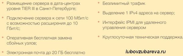 Тарифы выделенных серверов хостинга Таймвэб
